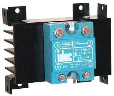 IDEC RSSD 25A Solid State Relay with Heat Sink 3 to 32 V DC Control used tested