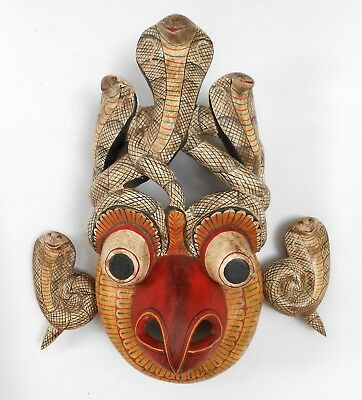 Rare Vintage Mask - Hand made wooden mask decor > sab0045