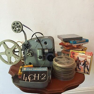 Rare Luch 2 8mm Russian Projector with Films