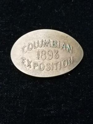 1893 Columbian Exposition Elongated 1863 Copper Nickel Indian Cent !!