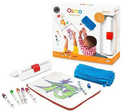 NEW Osmo Creative Kit w/ iPad Base Board 3 Game Apps Monster Newton Masterpiece