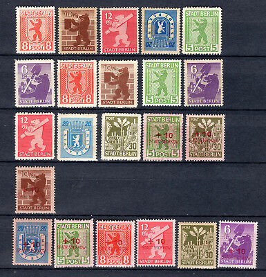 Germany 1945-1946 Allied Occupation Berlin & Storkow Issues Mnh & Mh Stamps