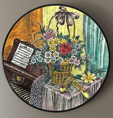 Ceramar Of Spain Hand Made & Painted Studio Pottery Ceramic Hanging Plate