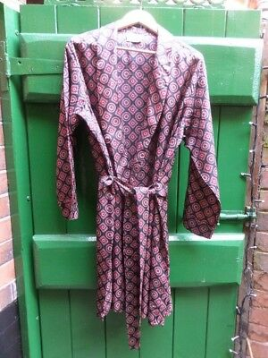 1940'S Original Mens Dressing Gown Made By Tootal In Great Britian