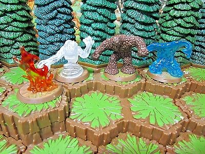 Air, Earth, Fire & Water Elementals Heroscape Champions Forgotten Realms