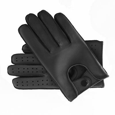 Mens driving Leather fashion chauffer Gloves with Quality stud fasten