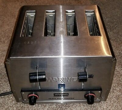 Waring Commercial WCT800RC Heavy Duty Stainless Steel Toaster w/ 4 Slot