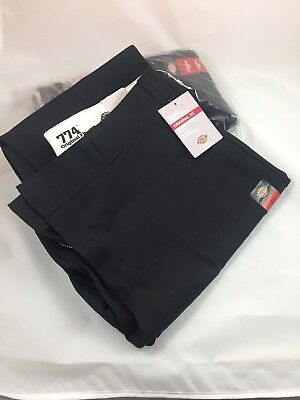 2 DICKIES WOMENS 774 Original Fit Straight Leg Midrise Black Work Pants Size 18T