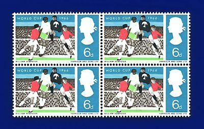 1966 SG694 6d World Cup Block (4) Unmounted Mint MNH awld