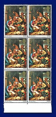 1967 SG756 3d Christmas Marginal Block (6) MNH - Unmounted Mint akhf