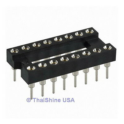 5 x 16 Pin Machine Tooled IC Socket - USA Seller - Free Shipping