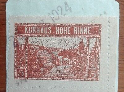 Romania Hohe Rinne 1923 hotel post on fragment