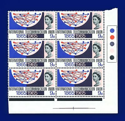 1965 SG683 9d I.T.U. Traffic Light Block (6) MNH - Unmounted Mint akih