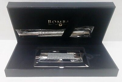 NEW Bombay & Company Silver Braided Pen & Business Card Holder Set NICE GIFT!