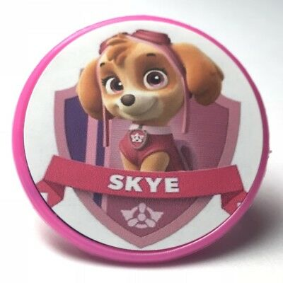 Paw Patrol Skye Cupcake Toppers Rings Birthday Party Favors