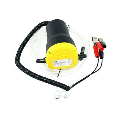 12V Motor Oil Diesel Fuel Transfer Pump Fluid Extractor 60W Black + Yellow K7Y7