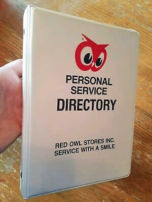 RARE Red Owl Grocery Store Service Directory Book vintage