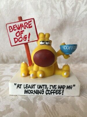Grimmy Mother Goose and Grimm Beware Of Dog Coffee Statue Figure Vintage 1989