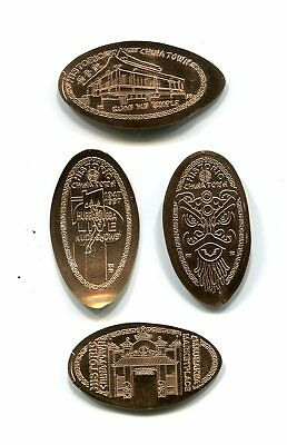 Hawaii Elongated Cents: HONOLULU CHINATOWN, Series II, set of 4 copper cents