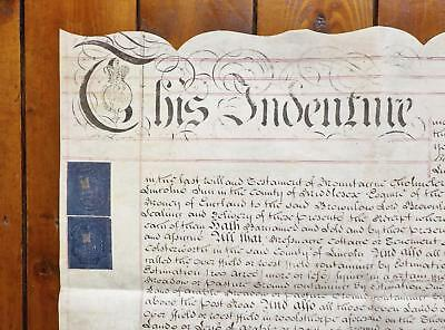 1804 Lincolnshire Vellum Deed Document Indenture signed Lord Brownlow of Belton