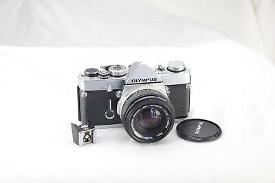 Olympus OM-1N camera complete with Olympus 50 mm lens,++. Beautiful condition