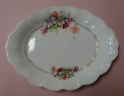 FRENCH China Antique AMERICAN POTTERY Dinnerware Flowers Decor SERVING PLATTER