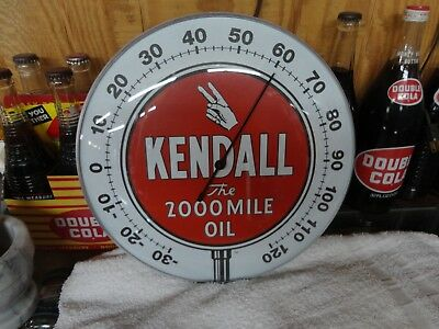 """Kendall Oil Company  Thermometer Licensed  12"""" Glass Lens"""