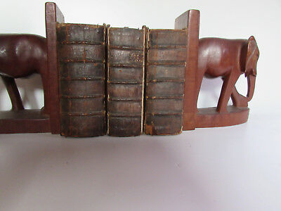Very rare! 3pcs antique book set. Historical. Printed: 1657, 1665, 1667 Leather.