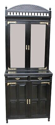 A Victorian Ebonised Two Door Bookcase