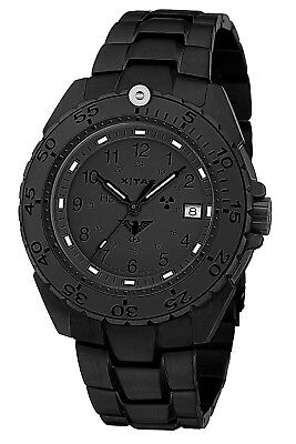 KHS Tactical Watches Swiss Made Enforcer XTAC Men Stainless Steel Band PVD-Black