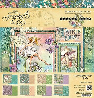 """Graphic 45 Fairie Dust 12x12"""" Collection Pack sticker sheet"""