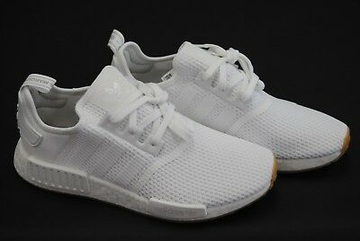 ddb3f7113  D96635  New Men s Adidas Originals Nmd R1 White White Gum Bottom Adm241