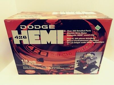 Testors Dodge Hemi 426 1/4 Scale Model - New in Opened Box - Parts in Plastic