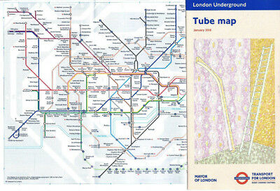 3 x london transport tube map official underground route map by tfl jan 2018