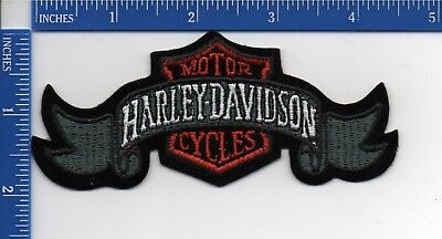 Authentic HARLEY DAVIDSON Grey Ribbon and Shield patch  NOS