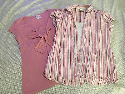 Lot Of 2 Motherhood Nursingwear Nursing Shirts