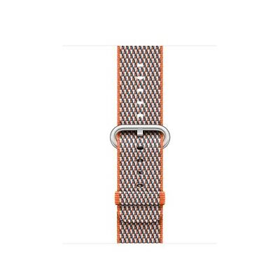 Original Apple Watch Woven Nylon Band (38mm, Spicy Orange Check) MQVE2AM/A