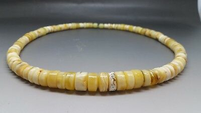 "20,3"" White/Butterscotch Beautiful Genuine Baltic Amber Necklace"