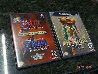 The Legend of Zelda Ocarina of Time / Master Quest & METROID PRIME GAMECUBE