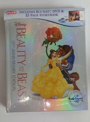 Beauty & The Beast 25th Anniversary Edition Blu-Ray DVD (Includes Storybook) NEW