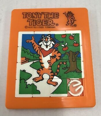 Tony The Tiger 1979 Slide Puzzle Kelloggs Cereal Vintage Toy - Rare