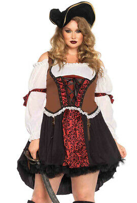 Plus Size Womens Leg Avenue pirate dress costume