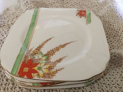"""6 Bell 6"""" Bread And Butter Plates England"""