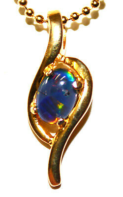 Natural Pendant Opal Gemstone 925 Sterling Silver Xmas Mother Day Gift Present