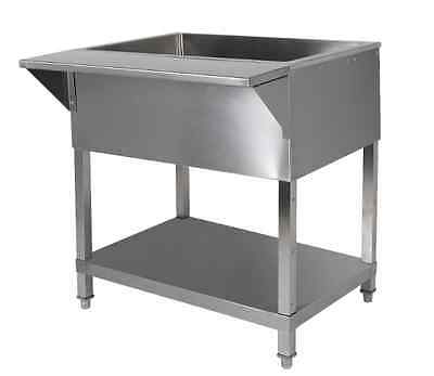 "48"" Stainless Steel Cold Food Pan Table"