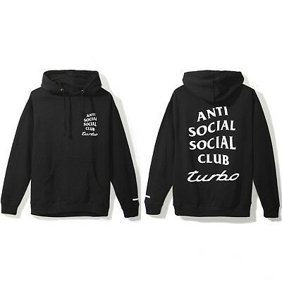 7bc7849093fd Anti Social Social Club x Neighborhood 911 Turbo Black Hoodie Size S M L XL  XXL