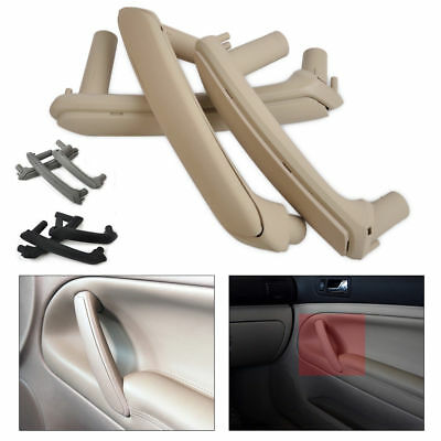 3Pcs ABS Door Pull Grab Handle With Trim Cover For 1998-2005 VW Passat B5 Newest
