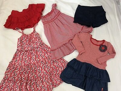 Girls Size 3 Red Bundle Including Cotton On And rhubarb.