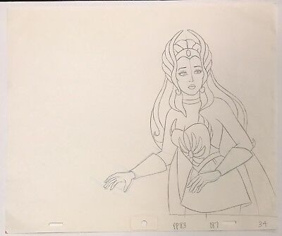 SHE-RA PRINCESS OF POWER Original Animation Art Drawing Filmation Studios