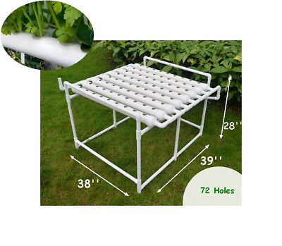 New Hydroponic 72 Plant Site Grow Kit Plant Deep Water Culture Garden System